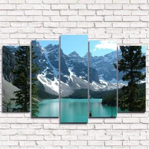 Модульная картина Спрятанное озеро 5-1