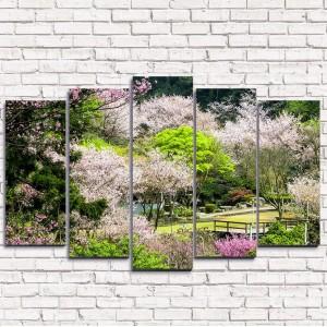 Модульная картина Чудесный парк 5-1