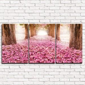 Модульная картина Цветочная аллея 3-1