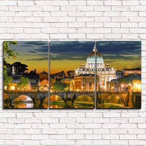 Модульная картина Рим 3-1