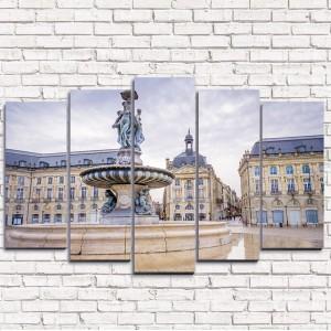 Модульная картина Фонтан в Бордо 5-1