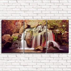 Модульная картина Тропический водопад 3-1