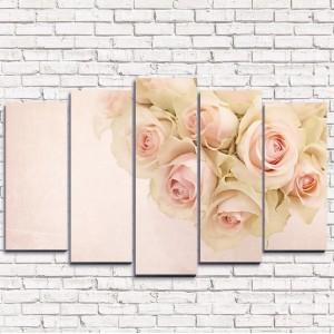Модульная картина Чувственные розы 5-1