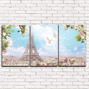 Модульная картина Романтический Париж 3-1