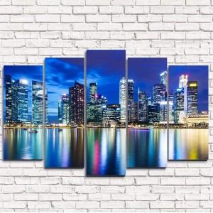 Модульная картина Река в Шанхае 5-1