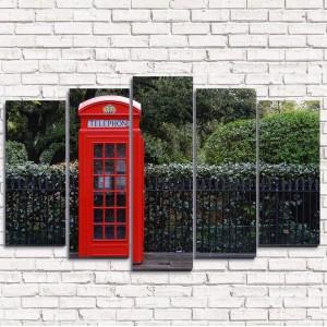 Модульная картина Телефон у парка 5-1