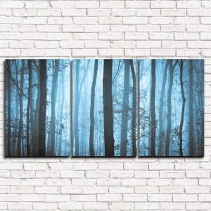 Модульная картина Туманные деревья 3-1