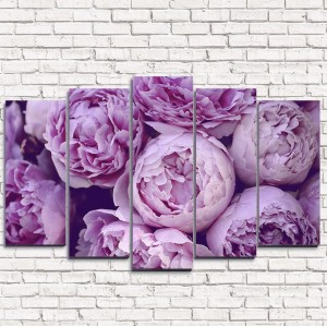 Модульная картина Фиолетовые бутоны 5-1