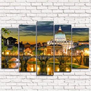 Модульная картина Рим 5-1