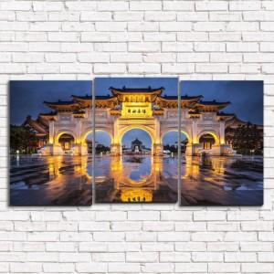 Модульная картина Тайвань 3-1