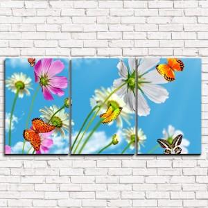 Модульная картина Утренние бабочки 3-1