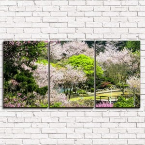 Модульная картина Чудесный парк 3-1