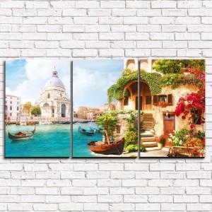 Модульная картина Старая Венеция 3-1
