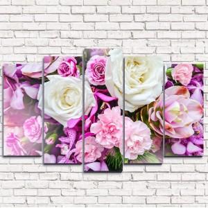 Модульная картина Фиолетовый букет 5-1