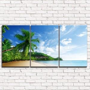 Модульная картина Солнечный пляж 3-1