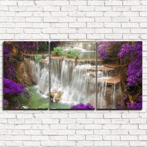 Модульная картина Утренний водопад 3-1