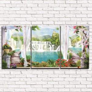 Модульная картина Шикарные водопады 3-1