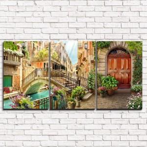 Модульная картина Старинный мост в Венеции 3-1