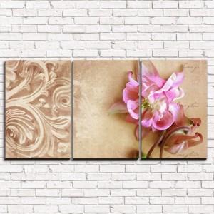 Модульная картина Фреска с цветком 1 3-1