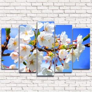 Модульная картина Цветущая сакура 5-1