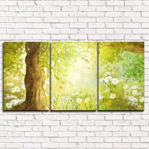 Модульная картина Утренний сказочный лес 3-1