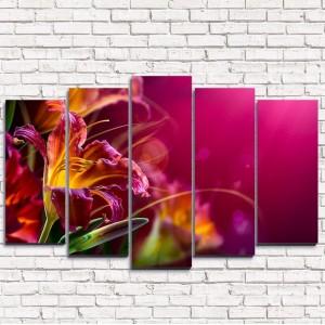 Модульная картина Яркий цветок 5-1