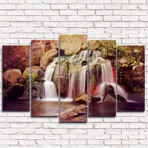 Модульная картина Тропический водопад 5-1