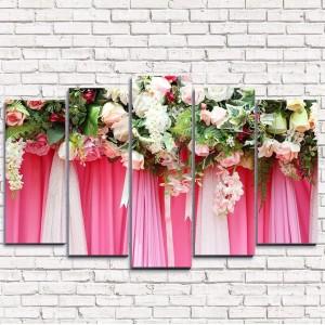 Модульная картина Свадебные цветы 5-1
