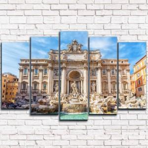 Модульная картина Фонтан Треви Рим 5-1