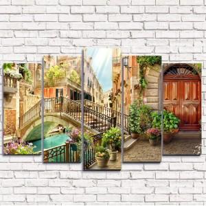 Модульная картина Старинный мост в Венеции 5-1