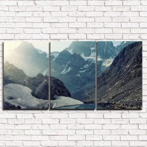 Модульная картина Утро в горах 3-1