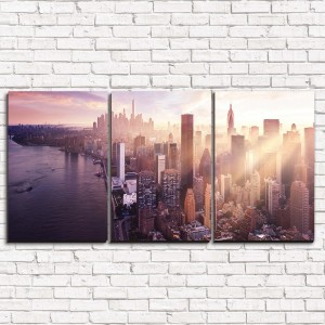 Модульная картина Сумерки в мегаполисе 3-1