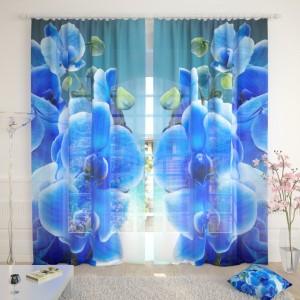 Фототюль Голубая орхидея