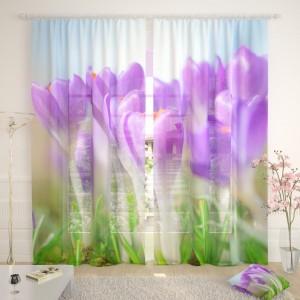 Фототюль Утренние цветы