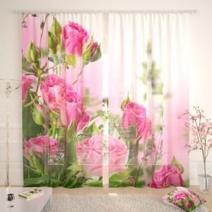 Фототюль Букет алых роз