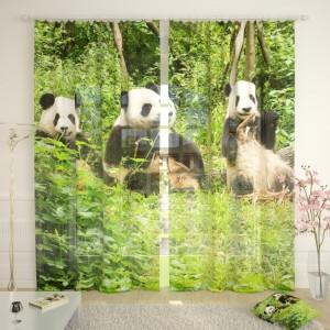 Фототюль Счастливые панды
