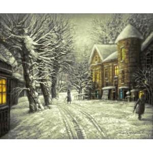 "Гобеленовое Панно ""Снег выпал. Замок. (Е.Шишкин)"" (50х60)"