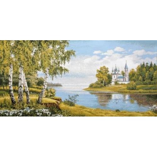 """Гобеленовое Панно """"Святые берега"""" (135х70)"""