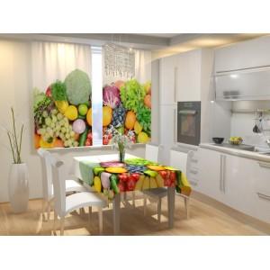 Фотошторы для кухни Аппетитные фрукты
