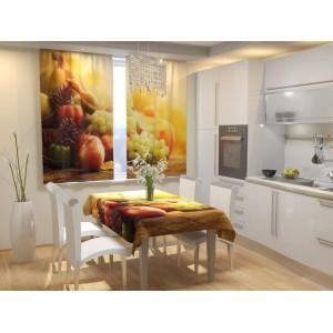 Фотошторы для кухни Осенние фрукты