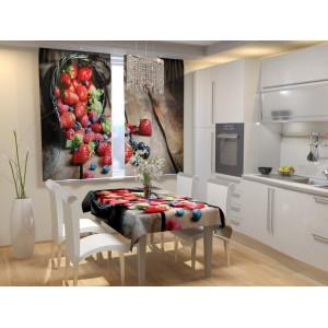 Фотошторы для кухни Россыпь ягод