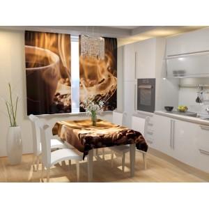 Фотошторы для кухни Ароматный кофе