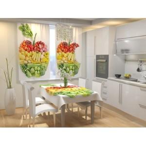 Фотошторы для кухни Фруктовое яблоко