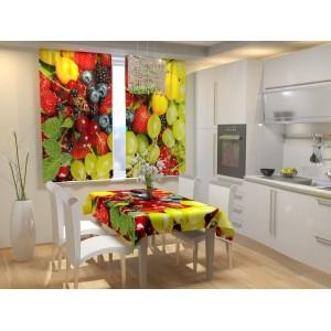Фотошторы для кухни Фруктовый бриз