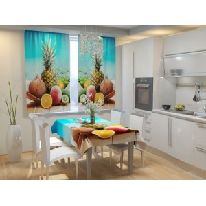 Фотошторы для кухни Свежие фрукты