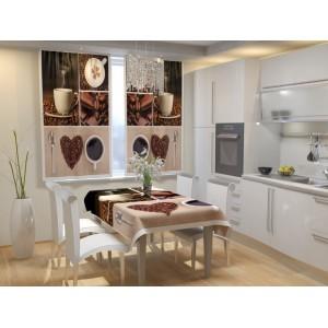 Фотошторы для кухни Кофейное настроение