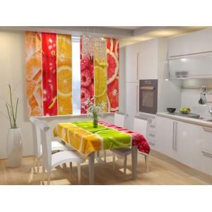 Фотошторы для кухни Фруктовый коллаж