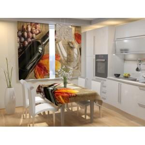 Фотошторы для кухни Бордо
