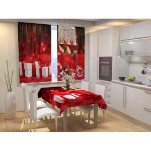 Фотошторы для кухни Романтический вечер