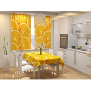 Фотошторы для кухни Апельсин